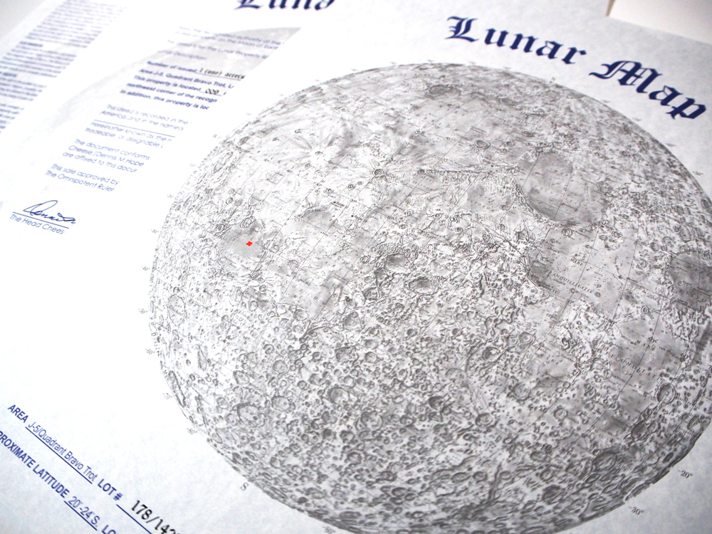 月 の 土地 値段